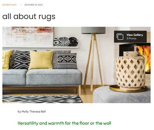 All About Rugs